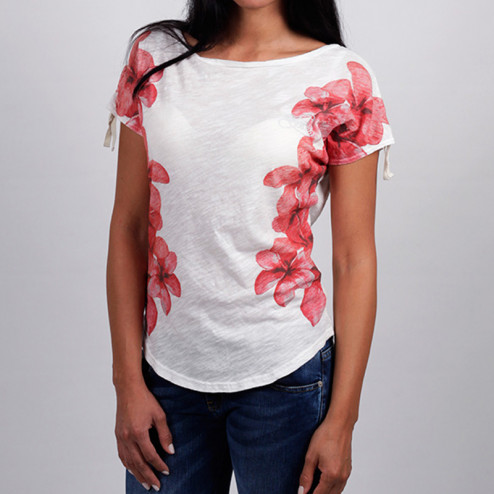 TIRDY - T-shirt manica pipistrello