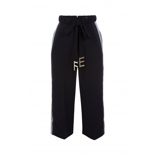 ELISABETTA FRANCHI - Pantalone cintura logata