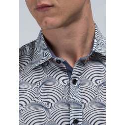 ANTONY MORATO - Camicia slim in popeline stampa optical