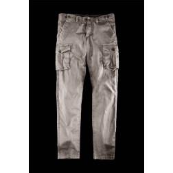 BOMBOOGIE - Pantalone multi tasche cargo slim fit