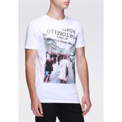 ANTONY MORATO - T-shirt girocollo con stampa effetto vintage