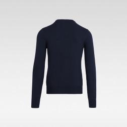 PEUTEREY - Pullover collo a V in cotone misto lana
