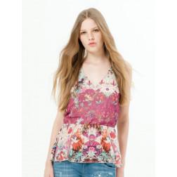 FRACOMINA - Blusa a fiori