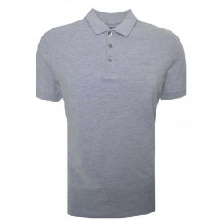ARMANI JEANS - Polo in piquet grigio scuro