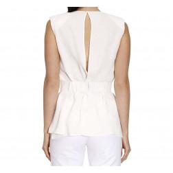 ELISABETTA FRANCHI - Blusa con cintura
