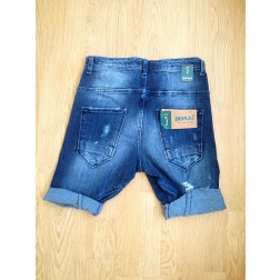 DISPLAJ - Bermuda in jeans con rotture