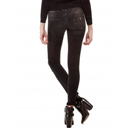 GUESS - Jegging in denim strappi