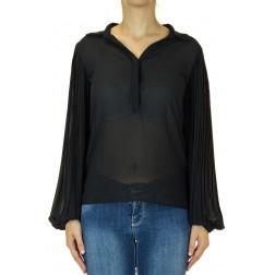 FRACOMINA - Blusa maniche plisse