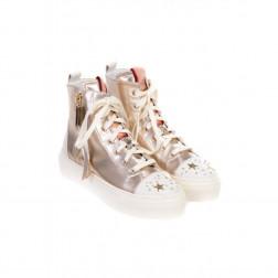 ELISABETTA FRANCHI - Sneakers alte con stelle SA24S76E2