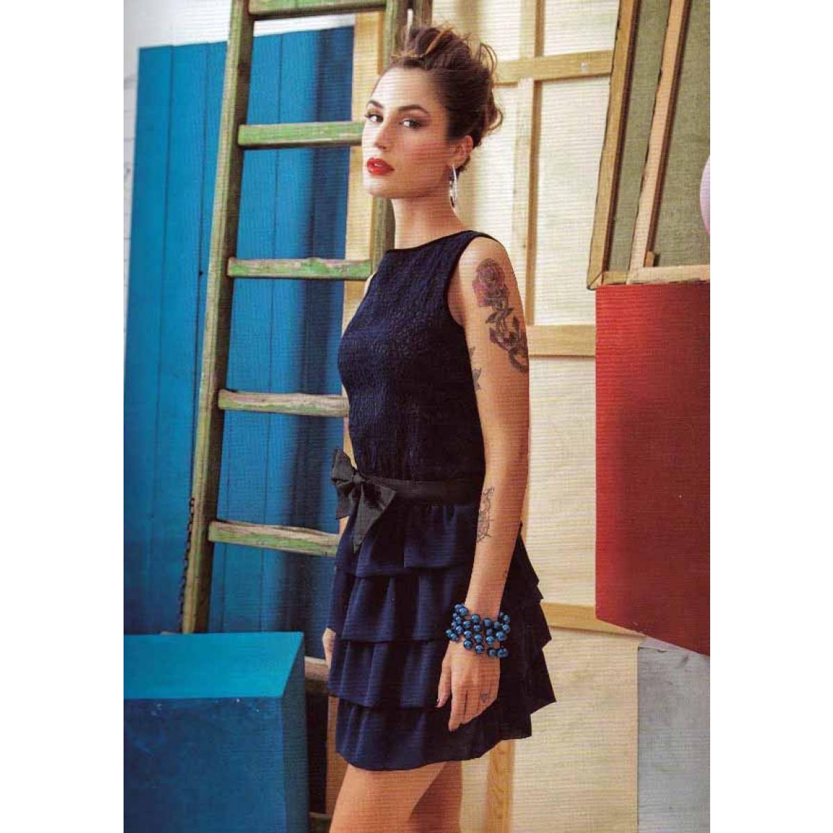 new style 72cbc ad479 DENNY ROSE - Vestito balze pizzo - Gruppo CAT Shop Online