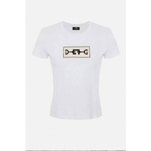 ELISABETTA FRANCHI - T/shirt con ricamo MA20116E2 270