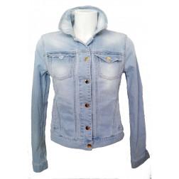 MET - Giubbino in jeans con rotture