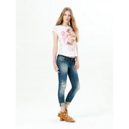 FRACOMINA - T-shirt con pizzo