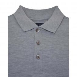 ARMANI JEANS - Polo in piquet grigio scuro