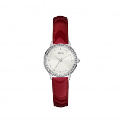 GUESS - Orologio cinturino in pelle bordeaux