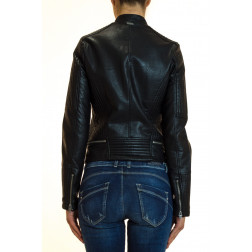 PEPE JEANS - Chiodo in ecopelle