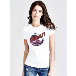 GUESS - T-shirt W91I60 K7DE0 TWHT