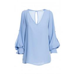 FRACOMINA - Blusa con apertura e perle Art. FR20SP046 422