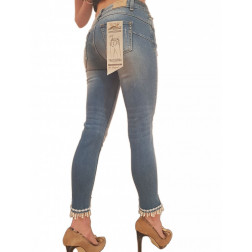FRACOMINA - Jeans cropped con frange di perle Art. FR20SPJBETTY5 258