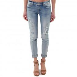 FRACOMINA - Jeans skinny used con perle Art. FR20SPJTINA5 428