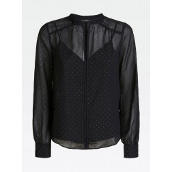 GUESS - Camicia strass all over Art. W01H70 WCLR0 JBLK