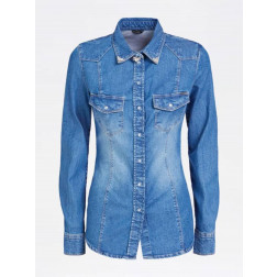 GUESS - Camicia denim stone washed used Art. W01H11 D3YR1 LIBC