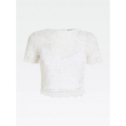 GUESS - Top in pizzo Art. W01P83 K9HM0 TWHT