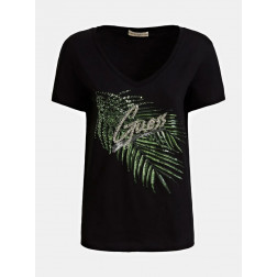GUESS - T-shirt logo e applicazioni Art. W0GI22 I3Z00 JBLK