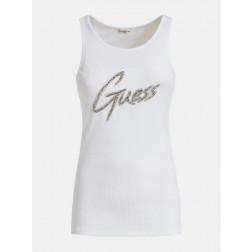 GUESS - Canotta logo con strass Art. W0GI73 K1810 TWHT