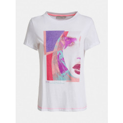 GUESS - T-shirt con stampa Art. W0GI88 K46D0 TWHT