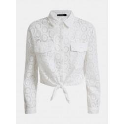 GUESS - Camicia ricami Art. W0GH47 WCTZ0 TWHT