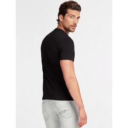 GUESS - T-shirt logo triangolo fluo Art. M01I55 J1300 JBLK