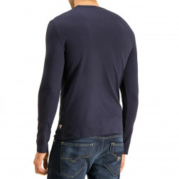 GUESS - T-shirt manica lunga scritta frontale Art. M01I70 J1300 G720