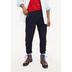 TOMMY HILFIGER - Pantalone color block in cotone Art. MW12987 0A4