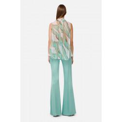 ELISABETTA FRANCHI - Camicia in seta smanicata con stampa foulard Art. CA276002E2 Y25