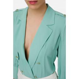 ELISABETTA FRANCHI - Camicia a body con bottoni Art. CB09001E2 Y04