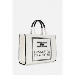 ELISABETTA FRANCHI - Borsa in canvas Art. BS02A01E2 685