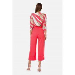 ELISABETTA FRANCHI - Camicia a body stampa foulard Art. CB11002E2 Y73