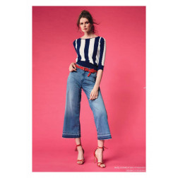 DENNY ROSE - Jeans cropped palazzo Art. 011ND26008 00