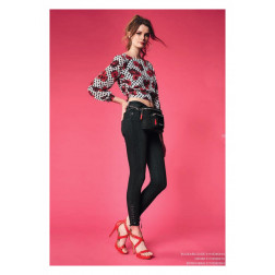 DENNY ROSE - Jeans nero vita alta Art. 011ND26010 00
