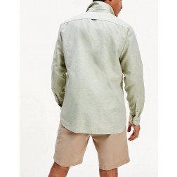 TOMMY HILFIGER - Camicia twill in lino Art. MW12761 L9F