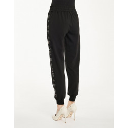DENNY ROSE - Pantalone applicazioni laterali Art. 011DD20027 2001