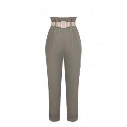 RINASCIMENTO - Pantalone vita alta con cintura Art. CFC0099083003