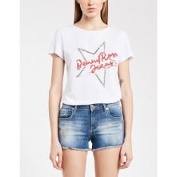 DENNY ROSE - T-shirt con applicazioni Art. 011ND64003 2117