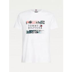 TOMMY HILFIGER - T-shirt stampa hawaiana MW17685 YBR