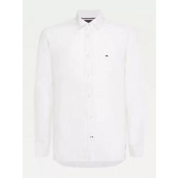TOMMY HILFIGER - Camicia in lino MW17646 YBR