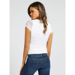 GUESS - Top in pizzo W1RP25 KAES0 TWHT