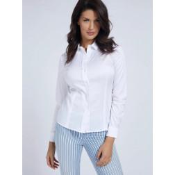 GUESS - Camicia popeline W1RH41 WAF10 TWHT