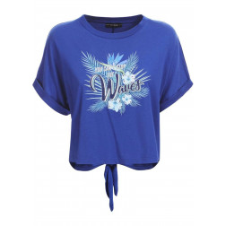 "GUESS - T-shirt stampa ""waves"" W1GI1D K46D0 G7L5"