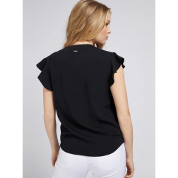 GUESS - Top con voulant W1GH90 W9X52 JBLK